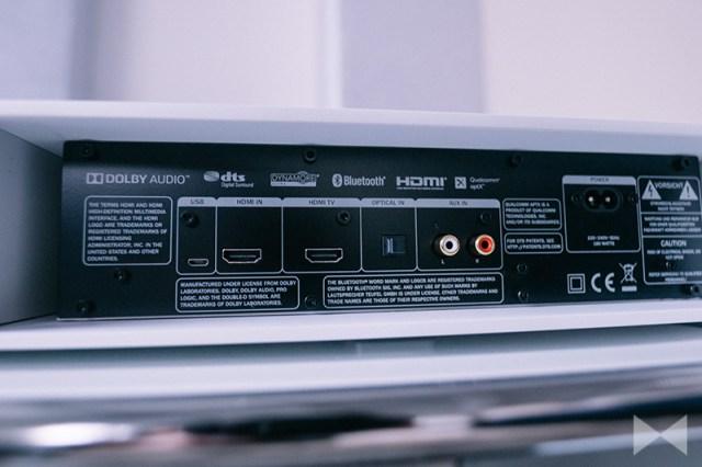 Teufel Cinedeck HDMI ARC Anschlüsse