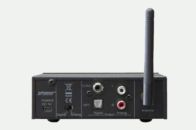 Advance Paris WTX-1100 Rückansicht des Bluetooth-Empfängers