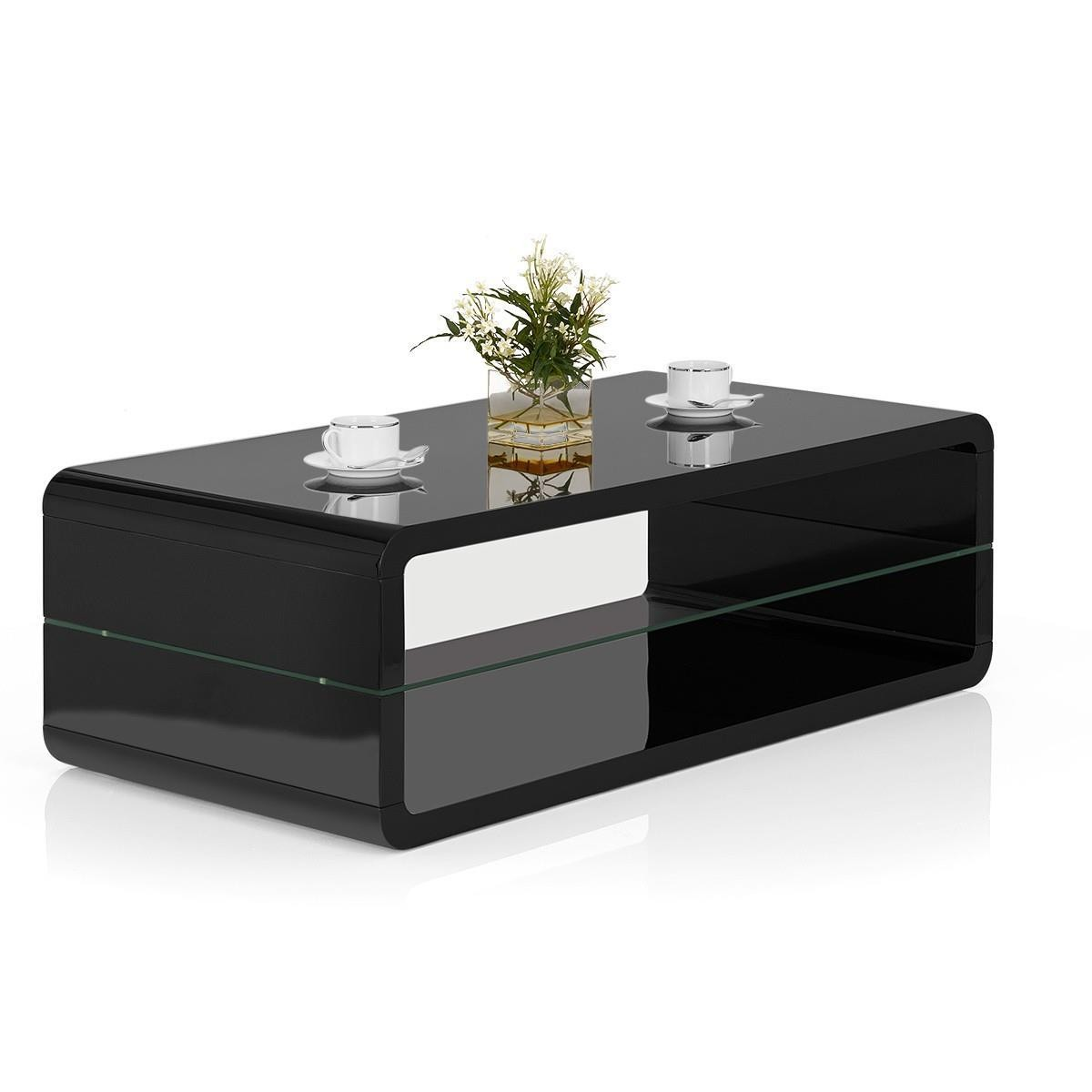 tilton high gloss black coffee table