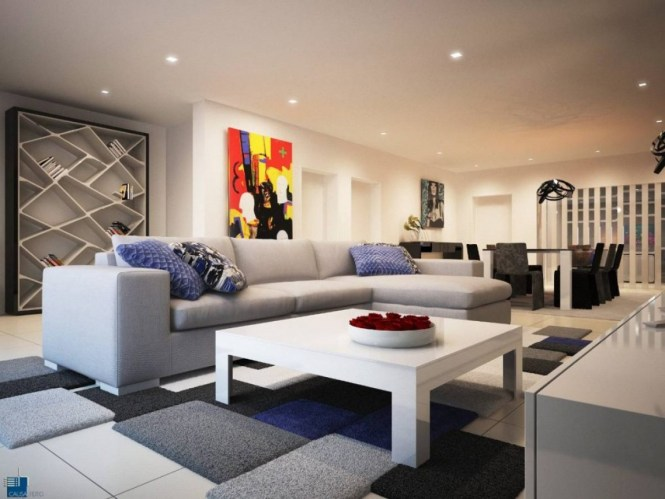 A Luxurious Modern Apartment With Vibrant Colorodern