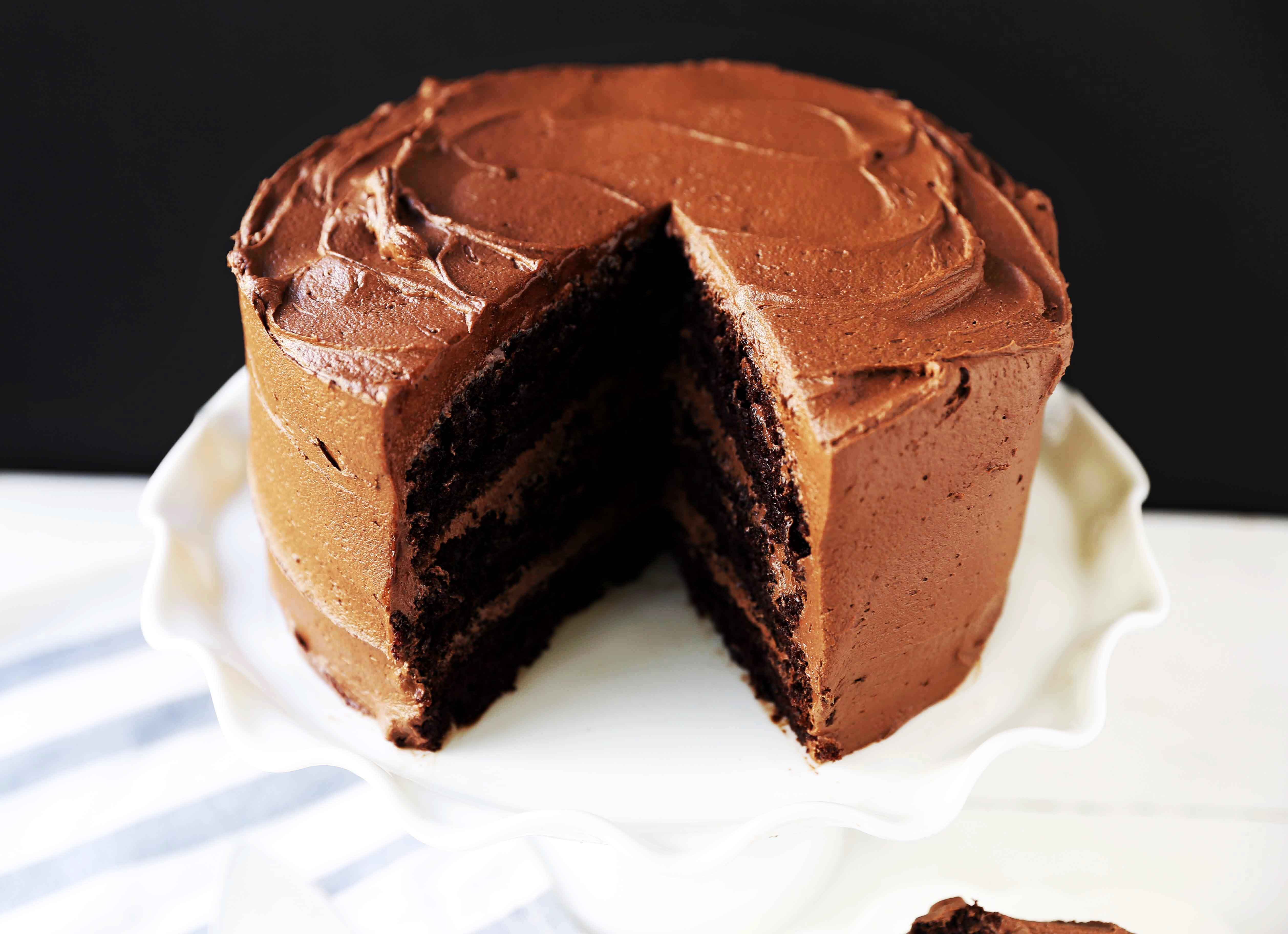 Love At First Sight Chocolate Cake Modern Honey