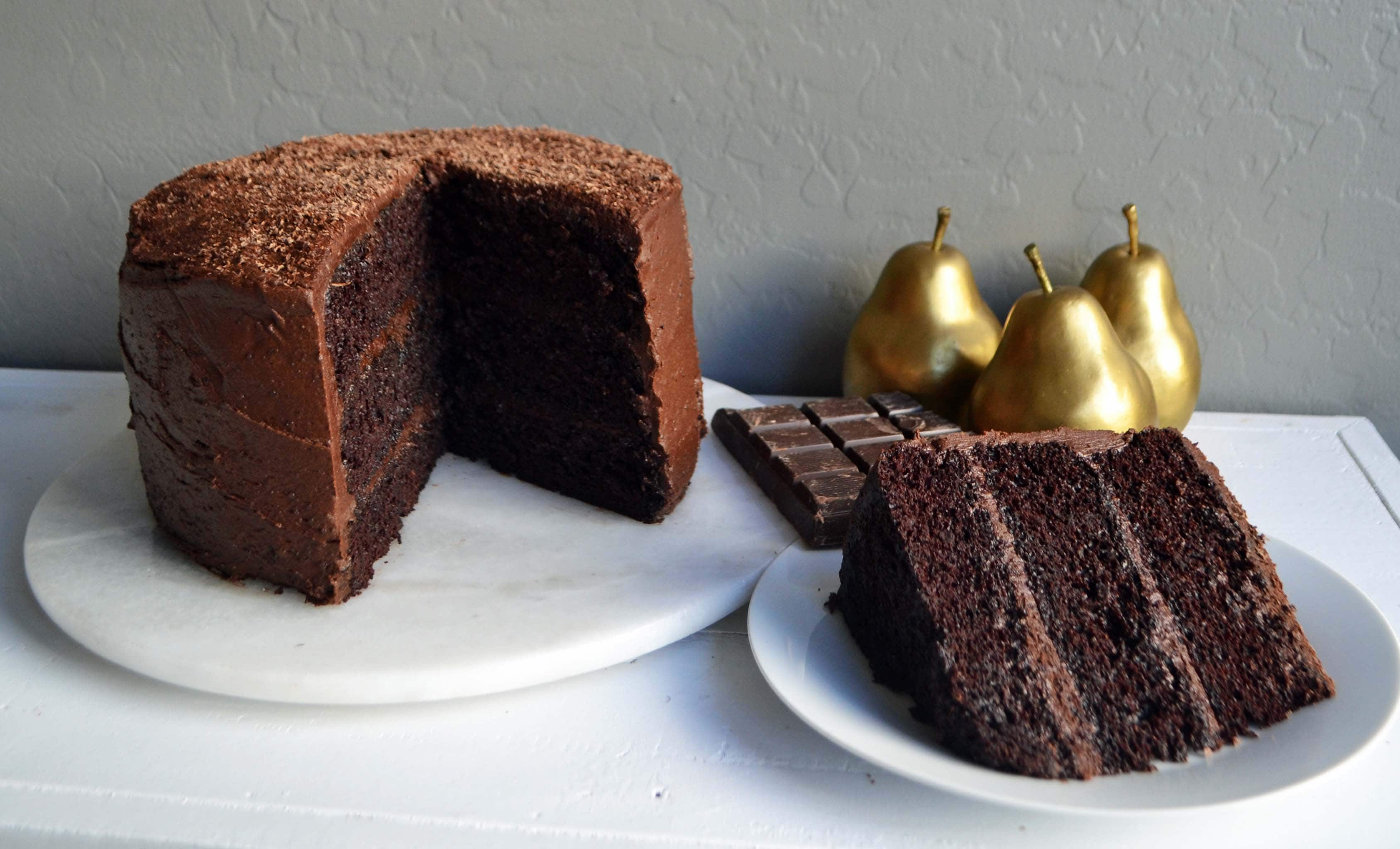 Love at First Sight Chocolate Cake | Modern Honey
