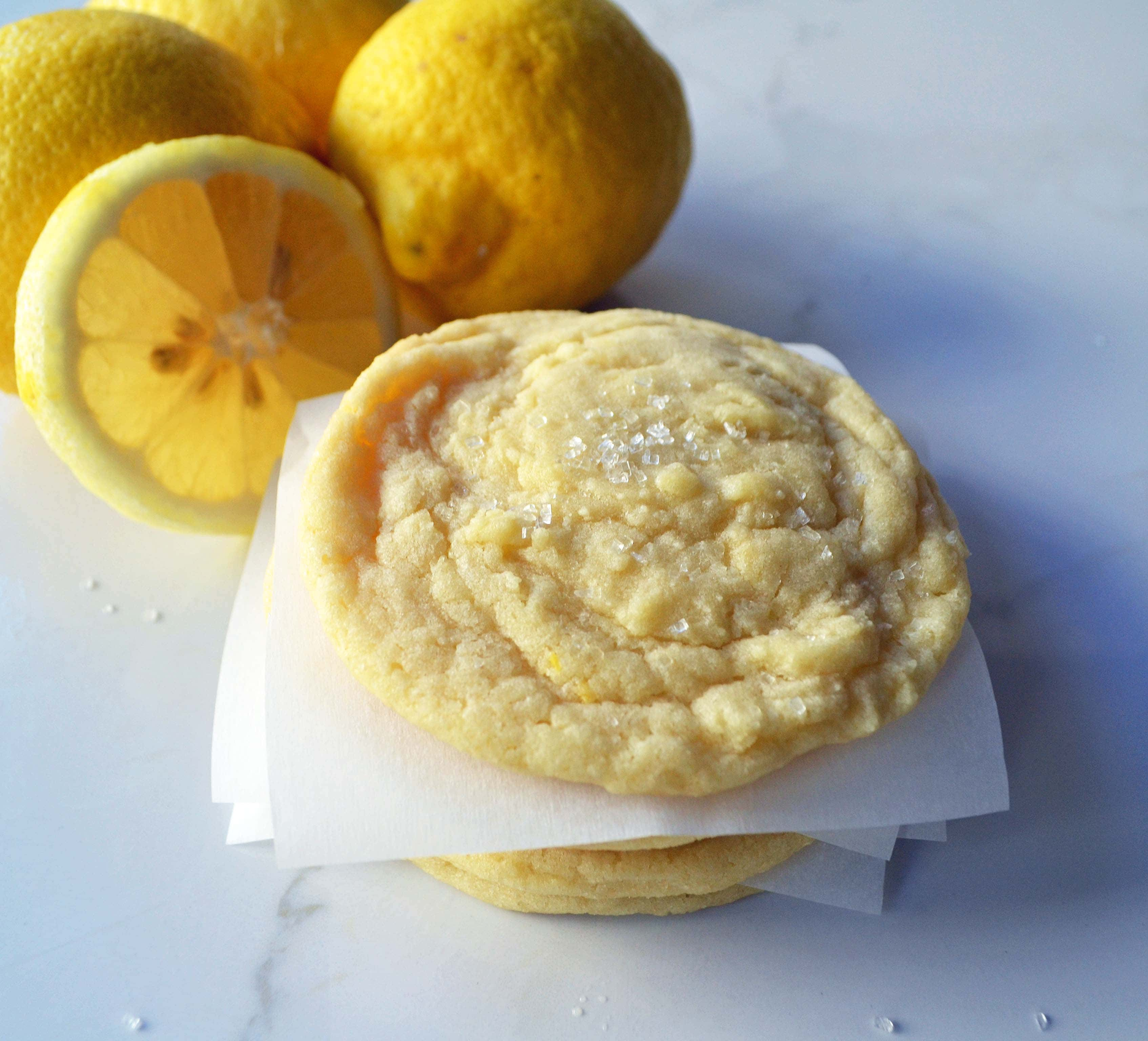 Lemon Sugar Cookies. Soft lemon zest cookies are one of the most popular and crowd pleasing cookies. www.modernhoney.com