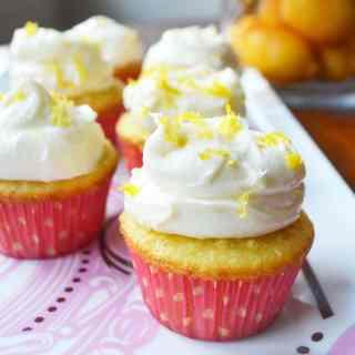 Italian Lemon Cupcakes with Sweet Ricotta Cream