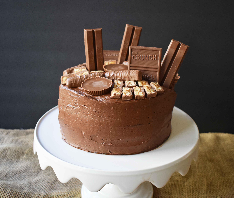 Candy Bar Stash Chocolate Cake