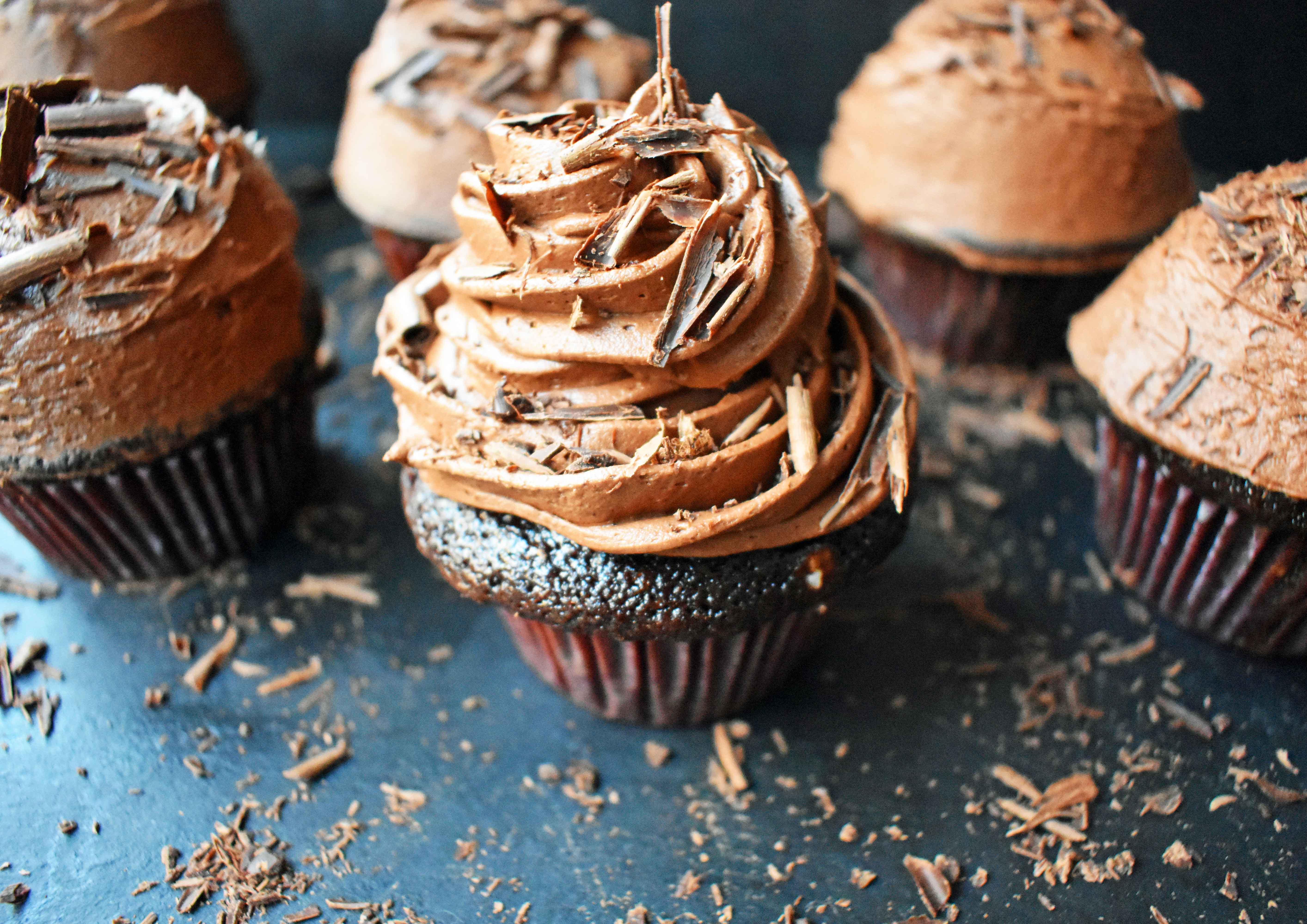 Chocolate Bombshell Birthday Cupcakes | Modern Honey