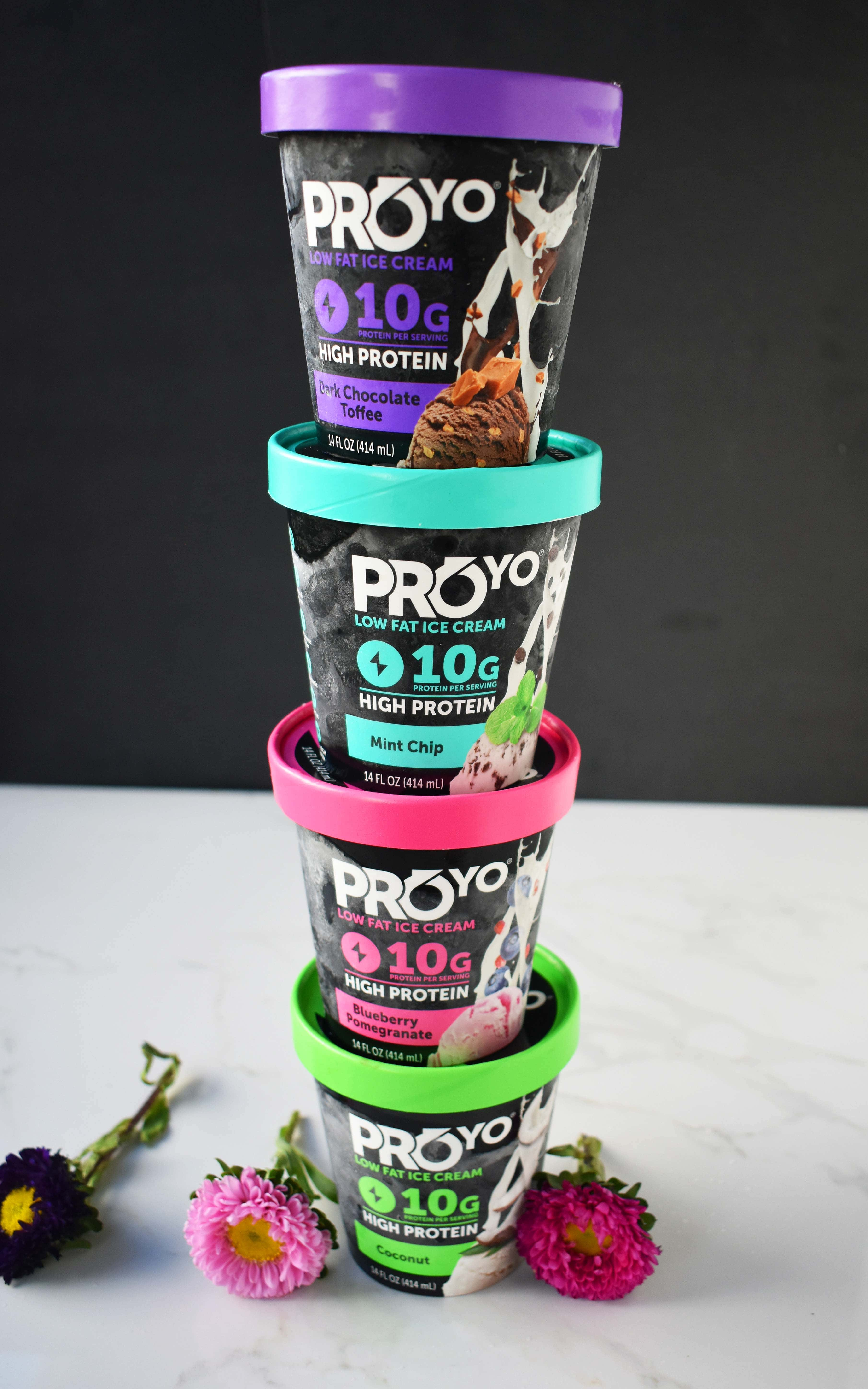 Pina Colada Protein Ice Cream using ProYo High Protein Low Fat Ice Cream, Pineapple, and Coconut Milk. A high protein, refreshing, delicious tasting dessert with no guilt! www.modernhoney.com