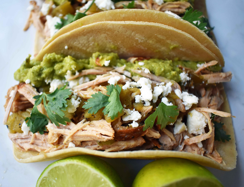 Green Chili Pork Carnitas Tacos | Modern Honey