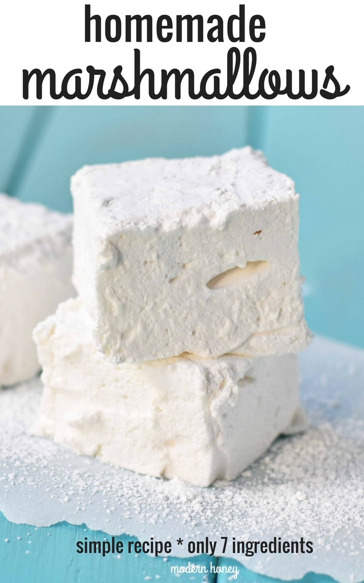 How to make soft and homemade marshmallows. Simple recipe to make perfect marshmallows at home. www.modernhoney.com
