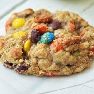 The Overachiever Oatmeal M & M Pretzel Cookie