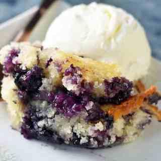 Texas-Style Blueberry Cobbler