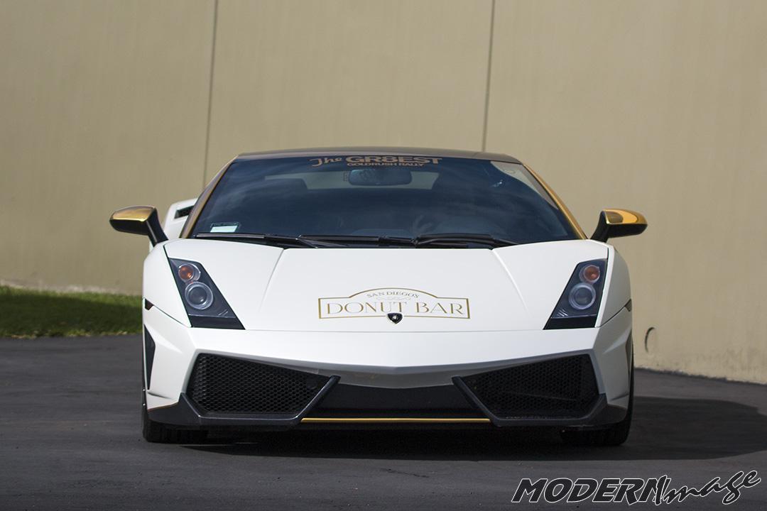 Modern Image goldRush Rally Lamborghini Gallardo Satin Pearl White Wrap 15