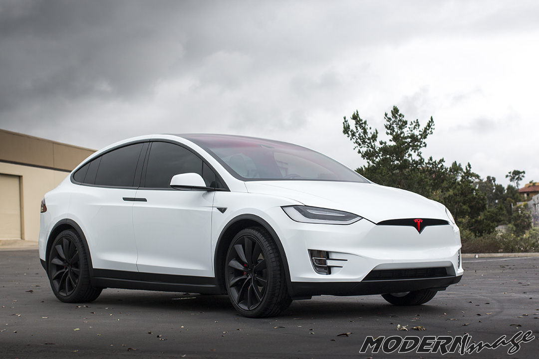 Modern Image Tesla Model X Blackout and Clear Bra 09