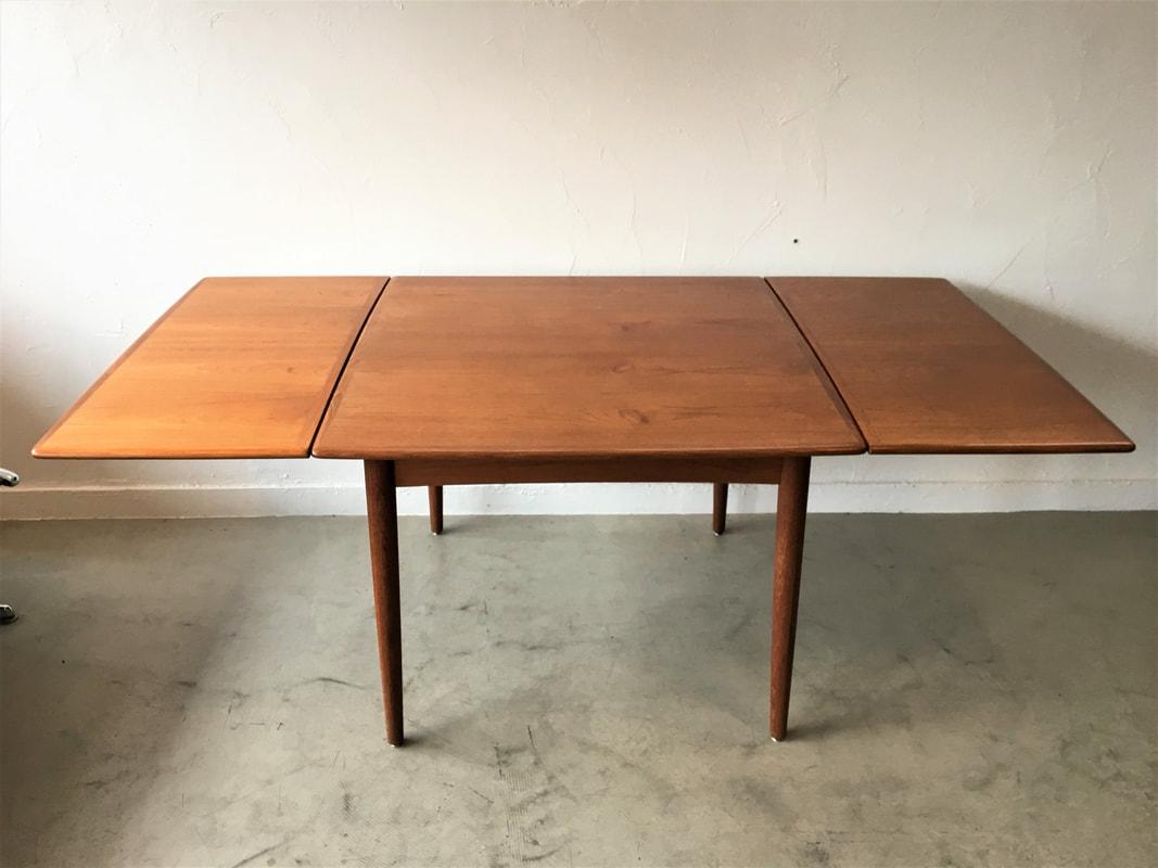 table danoise en teck avec double