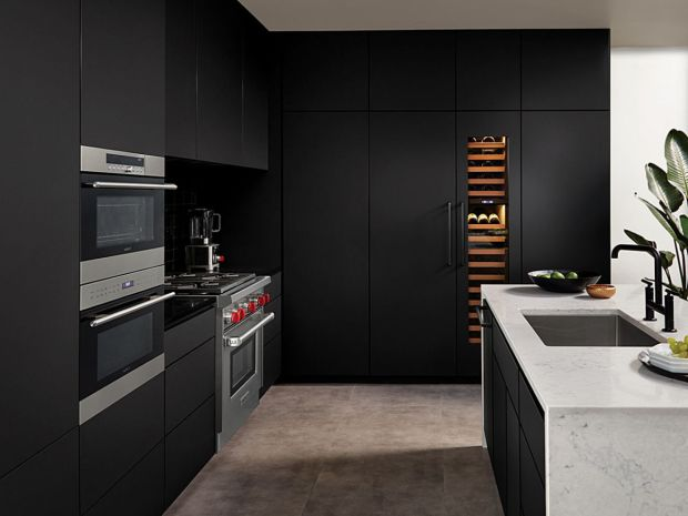 Matte Black Kitchen Cabinets Custom Ready To Assemble Matte Black Kitchen Cabinets Modern Kitchen Pros