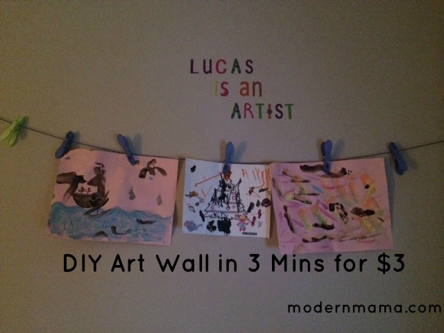 DIY Art Wall