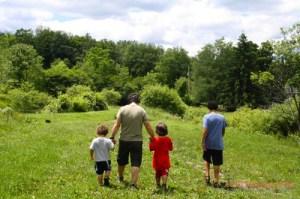 Dad with 3 Children