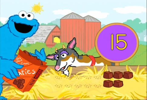 Sesame Street Cookie's Counting Carnival Game Screenshot