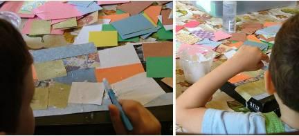 Treasure Box Activity - Gluing Paper