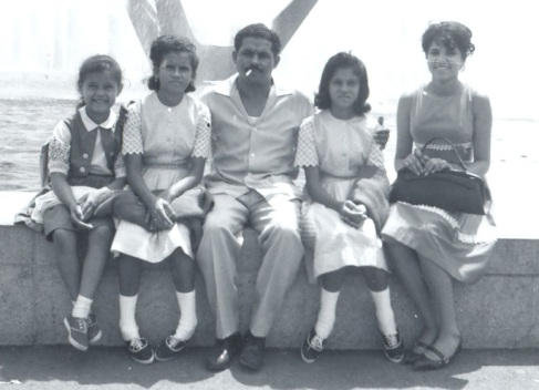 My mother with family in New York