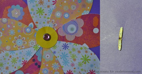 Decorating Flower on Homemade Mother's Day Card Craft for Kids