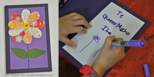 Personalize with a Message - Homemade Mother's Day Card Craft for Kids