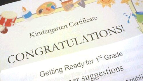 Kindergarten Certificate of Completion