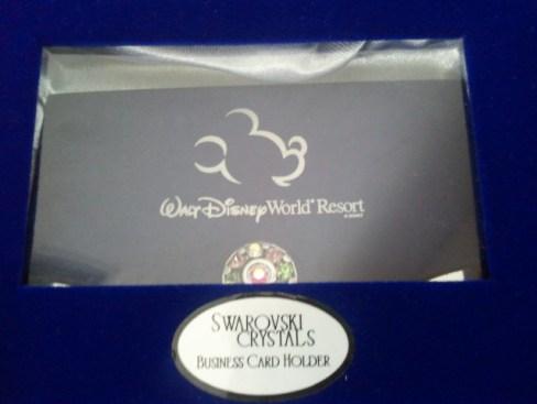 Disney Engraved Swarovski Crystals Business Card Holder