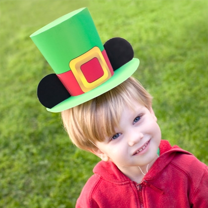 Mickey Leprechaun Hat for St. Patrick's Day (Printable)