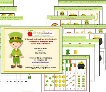 St. Patrick's Day Bilingual Printable Activity Pack