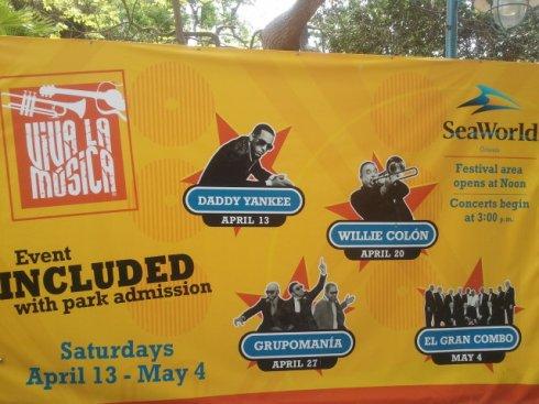 Viva la Música at SeaWorld Orlando 2013 Concert Line-Up
