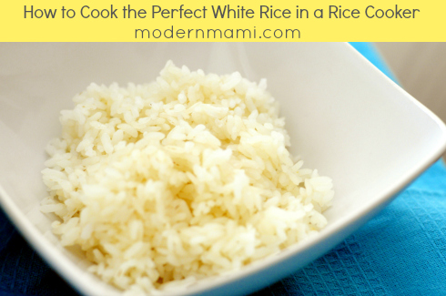 Simple Recipe for White Rice in a Rice Cooker