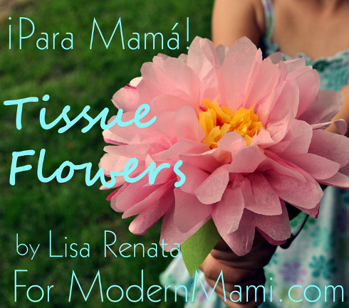 Tissue Flowers Craft for Mother's Day