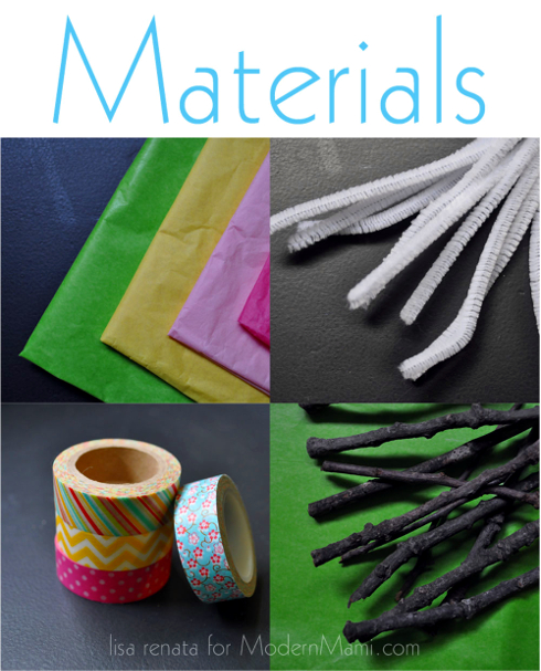 Materials Needed for Tissue Flowers Craft