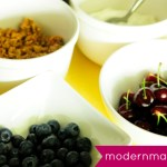 Blueberry & Cherry Yogurt Parfait: A Red, White, and Blue Cool Snack Perfect for Summer or 4th of July! {Recipe}