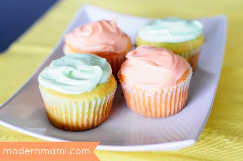 Orangesicle & Key Lime Cupcakes