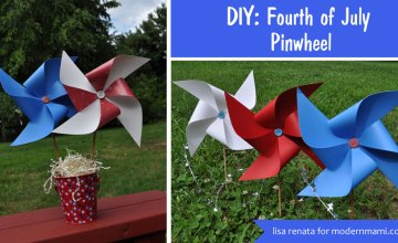 Festive 4th of July Decoration: DIY Fourth of July Pinwheels {Kids Craft}