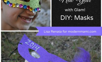 Celebrate the New Year with DIY New Year's Eve Glam Masks! {Kids Craft}