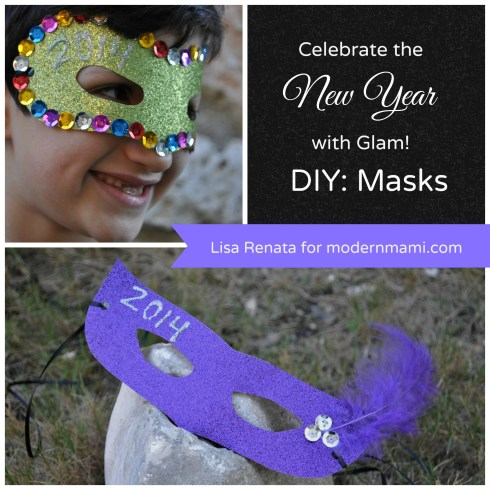 DIY New Year's Eve Glam Masks for Kids