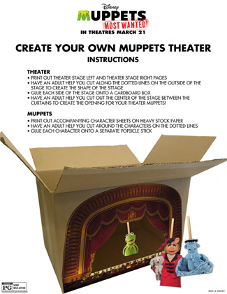 The Muppets Printable Create Your Own Theater for Kids