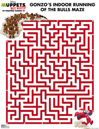 The Muppets Printable Maze Activity Sheet for Kids