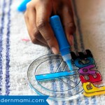 Spring Break Fun at Home for Kids! Paint Your Own Suncatchers {Kids Craft}
