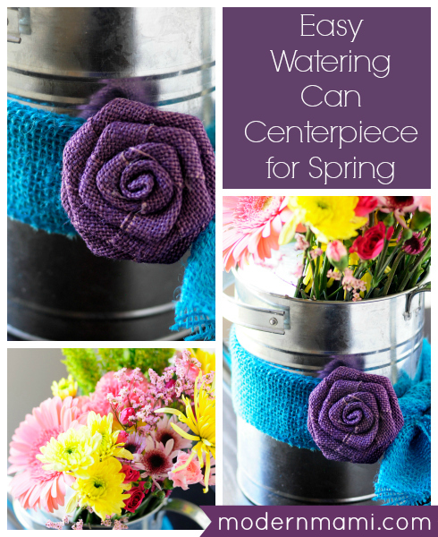 Watering Can Centerpiece for Spring