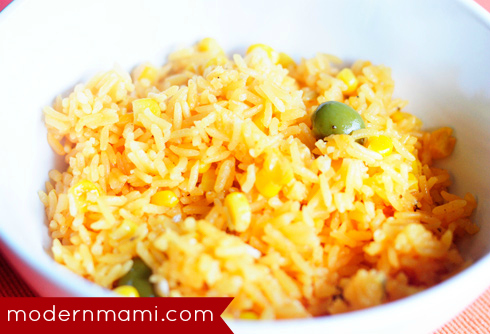 Puerto Rican Yellow Rice with Corn Recipe, Arroz con Maiz