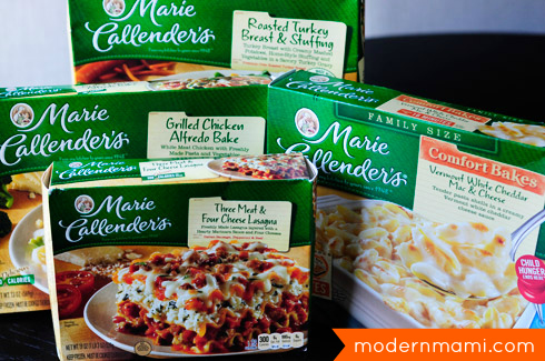 Marie Callender's frozen meals for family meals