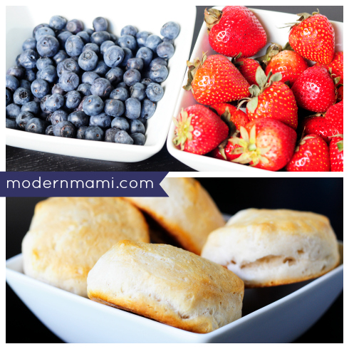 Strawberry Biscuit Shortcake: 4th of July Inspired Red White and Blue Dessert, Ingredients