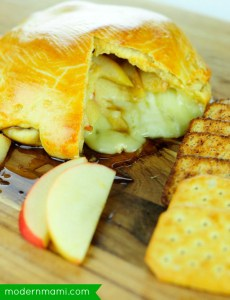 Crescent Wrapped Apple Brie Holiday Appetizer