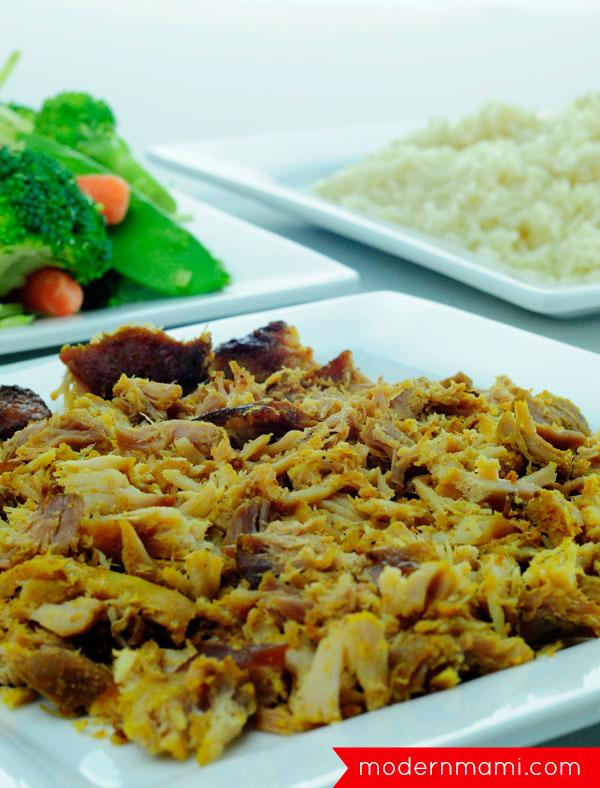 Puerto Rican Pernil Pork Stir Fry, Ingredients Needed