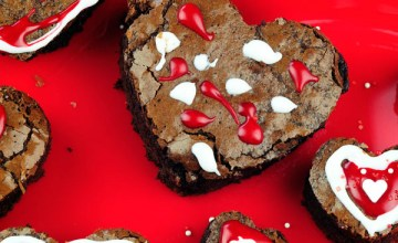 Valentine's Day Dessert for Kids: Brownie Hearts