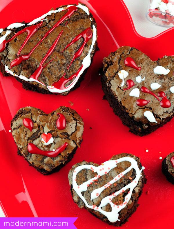 Valentine's Day Dessert for Kids: Brownie Hearts